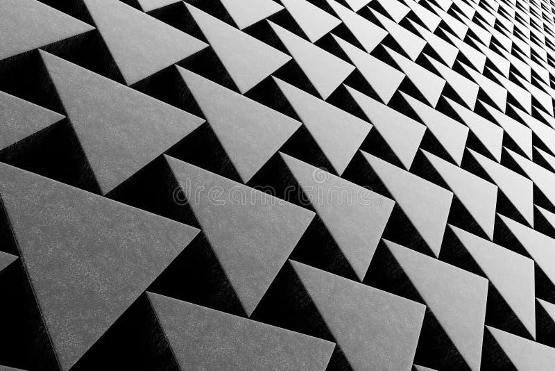 Pared de las prismas de piedra ilustración del vector