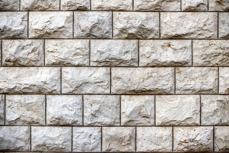 Pared de los bloques grandes de piedra de Jerusalén, textura fotografía de archivo