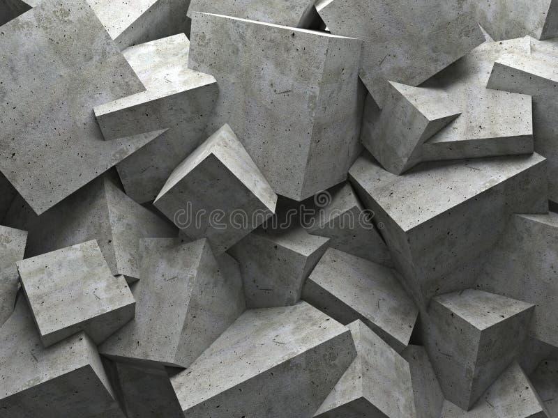 Pared de los cubos imagenes de archivo