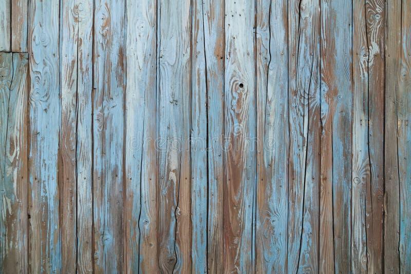 Pared de madera azul vieja imágenes de archivo libres de regalías