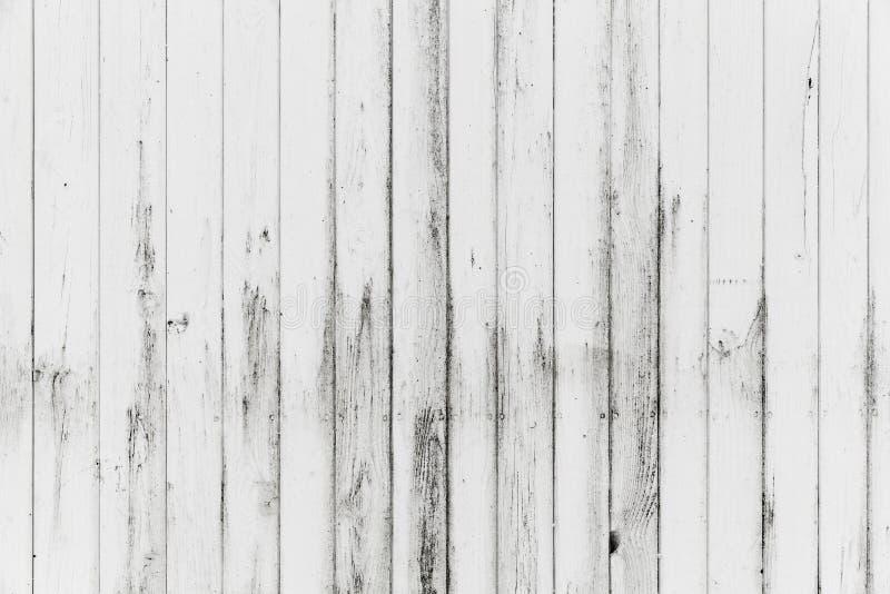 Pared de madera blanca, pintura sucia, textura del fondo fotos de archivo