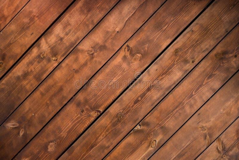 Pared de madera del fondo de la textura de encariñado rústico del blocao fotografía de archivo libre de regalías