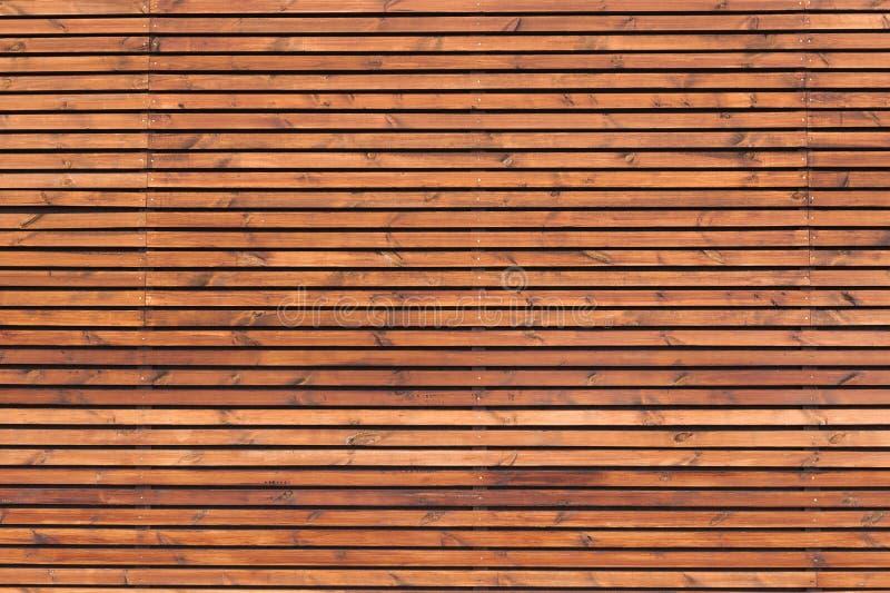 Pared de madera de madera de los listones fotos de archivo libres de regalías