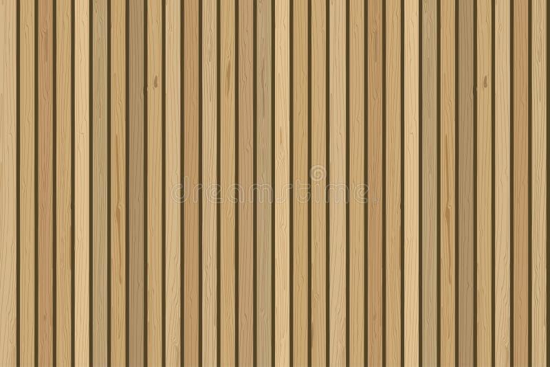 Pared de madera de los tablones Antecedentes de madera del vector Para el diseño interior contemporáneo libre illustration