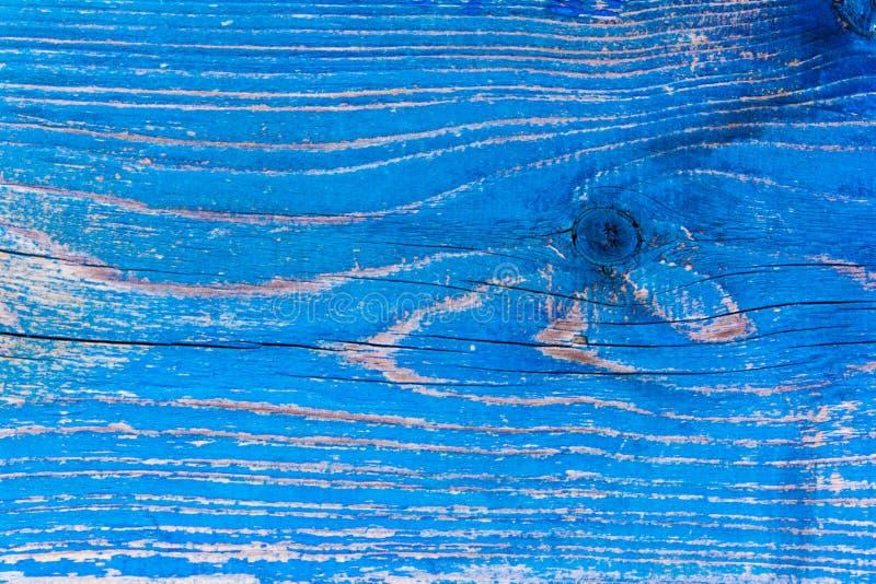 Pared de madera vieja pintada en color azul imagen de archivo libre de regalías
