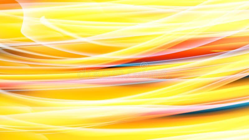 Pared de neón ardiente cósmica mágica de la energía amarillo-naranja abigarrada brillante hermosa del extracto de las líneas y de libre illustration