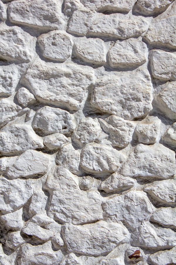 Pared de piedra blanqueada fotos de archivo libres de regalías