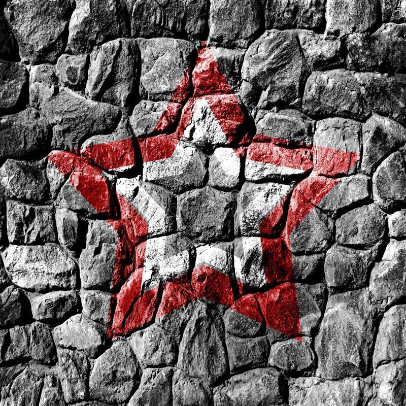 Pared de piedra con la estrella