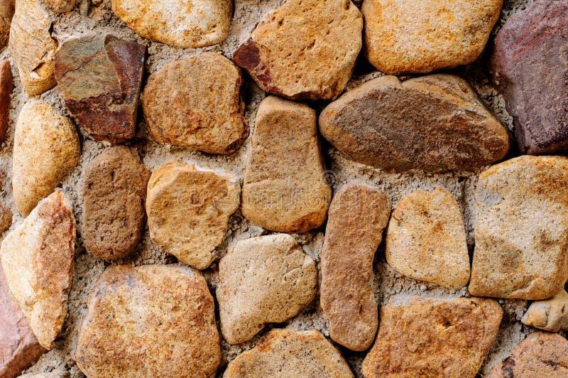Pared de piedra de Brown foto de archivo
