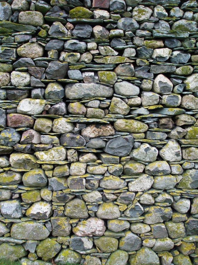 Pared de piedra de Cumbrian imágenes de archivo libres de regalías