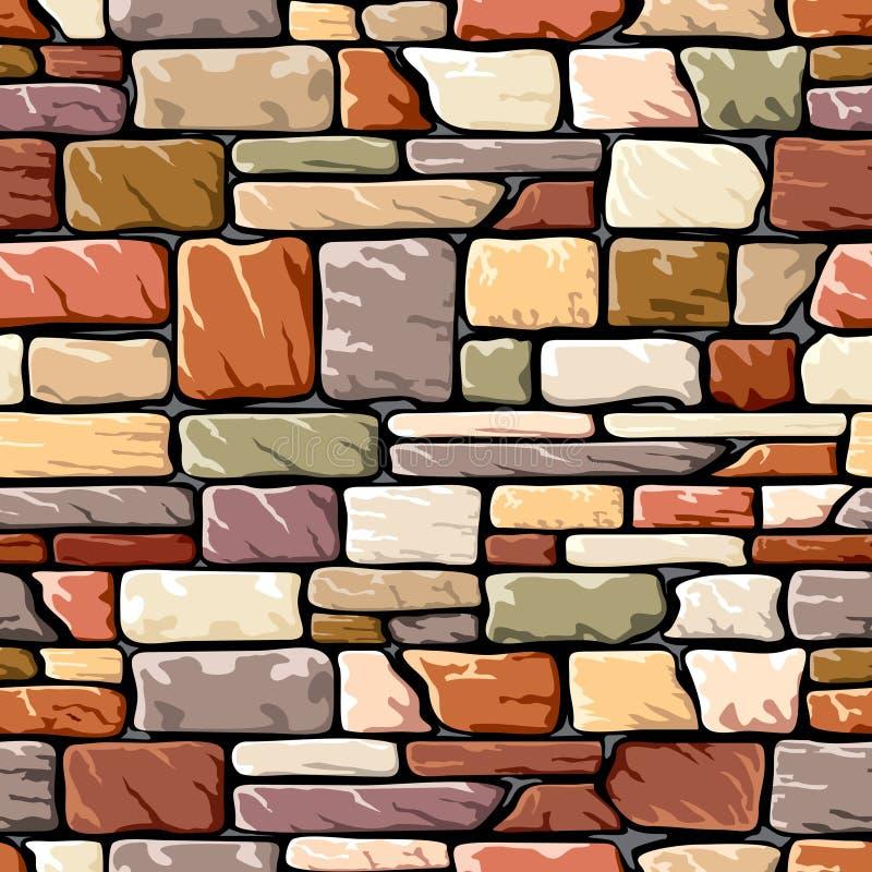 Pared de piedra del color libre illustration