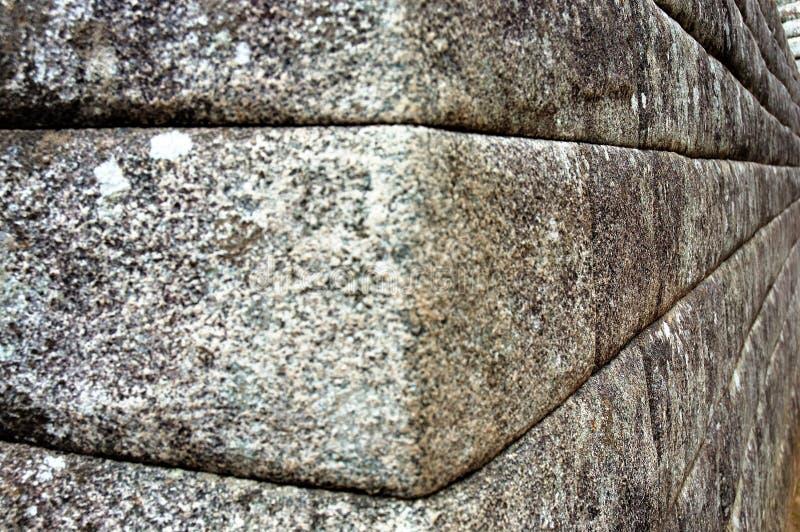 Pared de piedra del inca foto de archivo