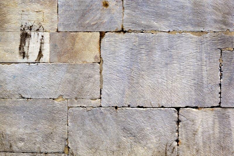 Pared de piedra del ladrillo del Grunge imagen de archivo libre de regalías