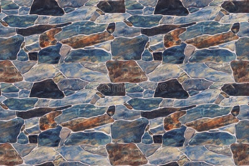 Pared de piedra de la textura inconsútil fotografía de archivo