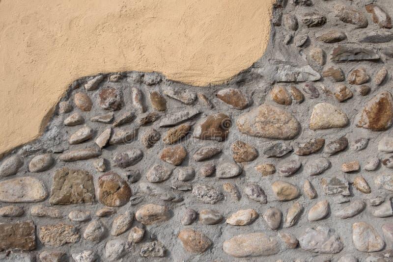 Pared de piedra rústica foto de archivo