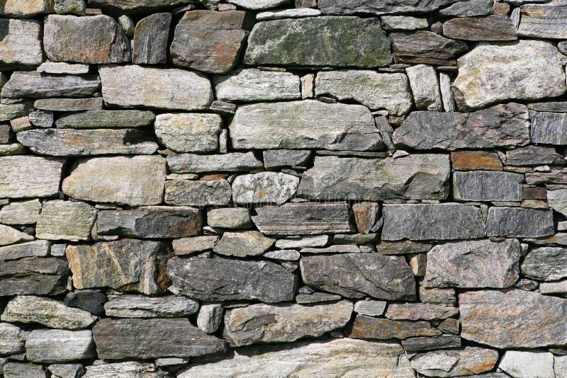 Pared de piedra seca foto de archivo