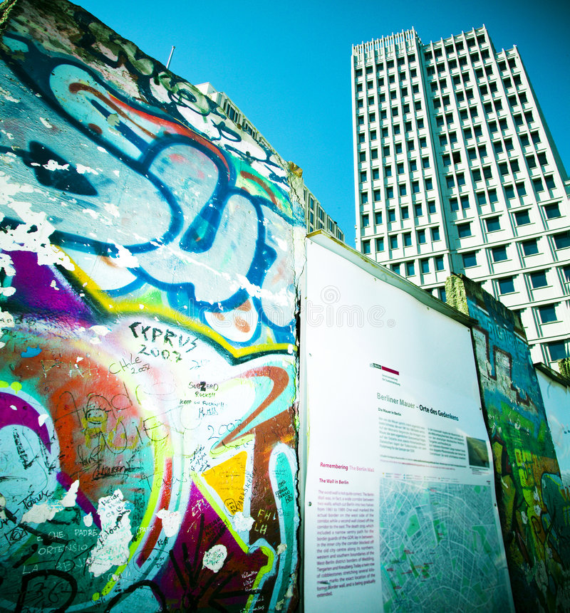 Pared de Potsdamer Platz imagen de archivo