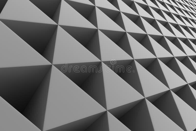Pared de prismas plásticas stock de ilustración