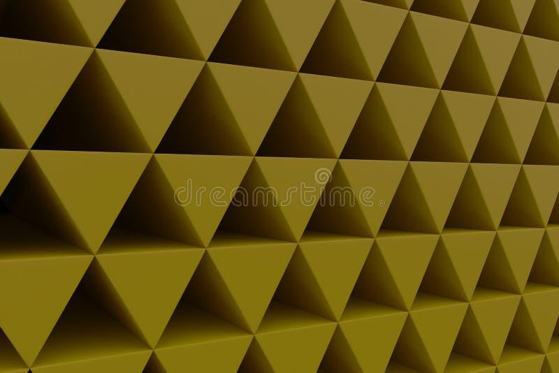Pared de prismas plásticas ilustración del vector