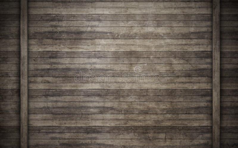 Pared de tablones de madera ilustración del vector