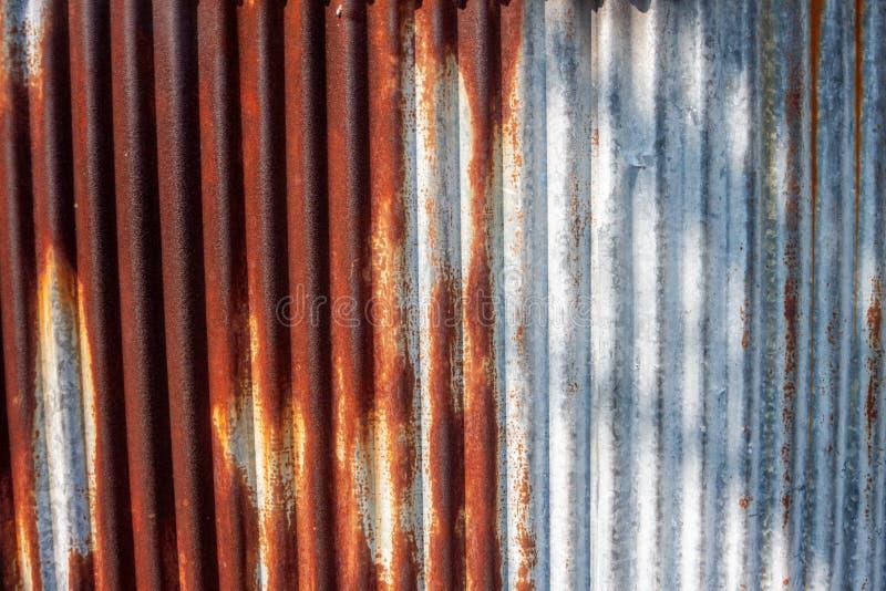 pared de zinc con textura de espectáculo antigua oxidada fotografía de archivo libre de regalías