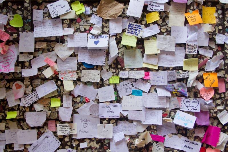 Pared del amor Verona fotografía de archivo libre de regalías