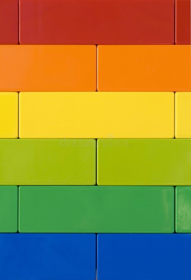 Pared del arco iris fotografía de archivo libre de regalías