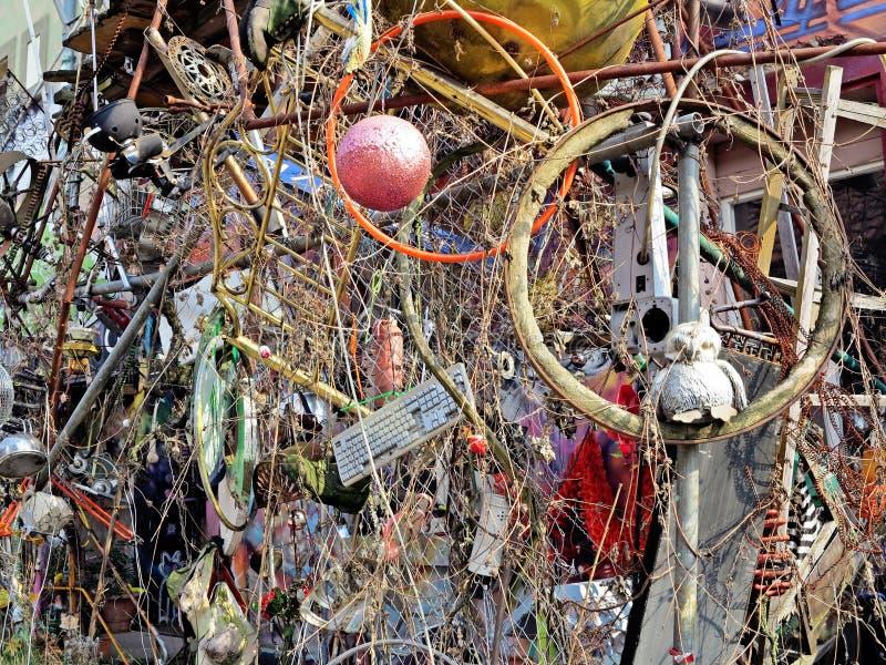 Pared del arte de la basura fotografía de archivo libre de regalías