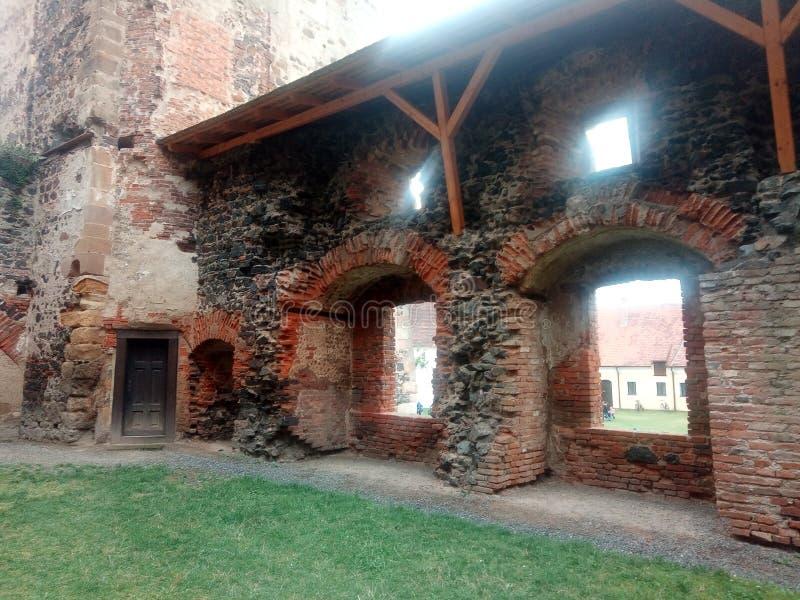 Pared del castillo imagenes de archivo