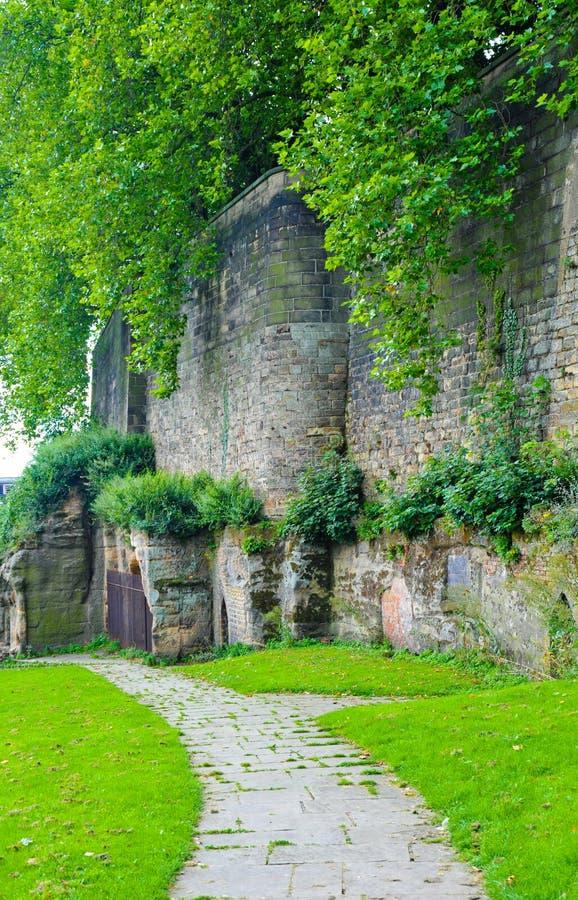 Pared del castillo de Nottingham foto de archivo libre de regalías