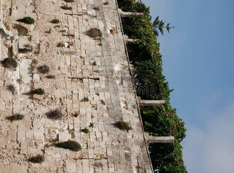 Pared del castillo de Otranto fotos de archivo libres de regalías