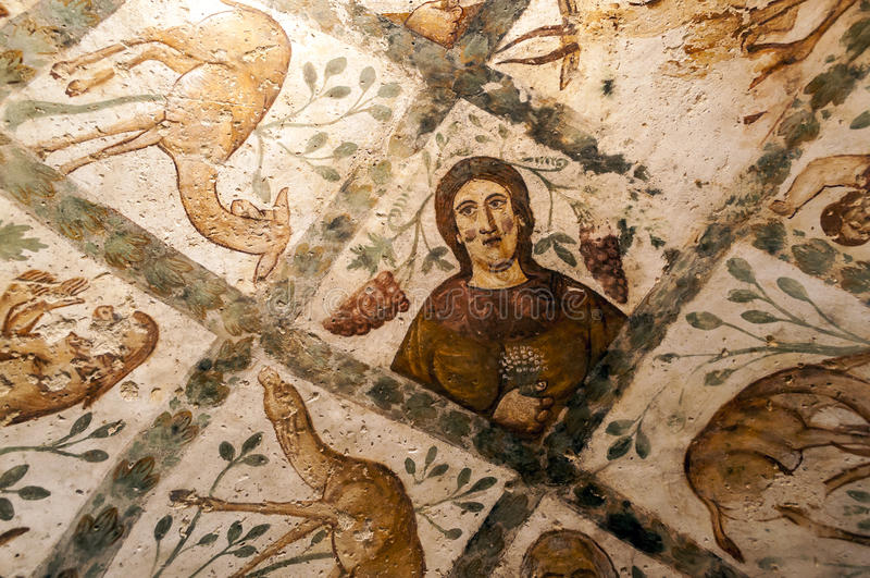Pared del castillo Hanarrah fotografía de archivo
