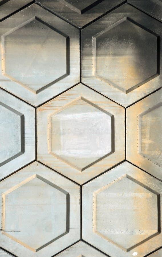 Pared del cemento del hexágono imagenes de archivo