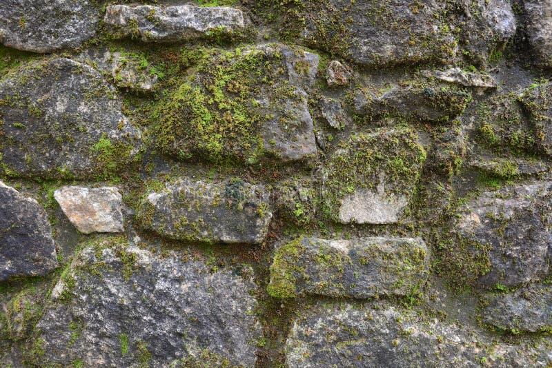 Pared del cierre de piedra para arriba, fondo, textura fotos de archivo libres de regalías