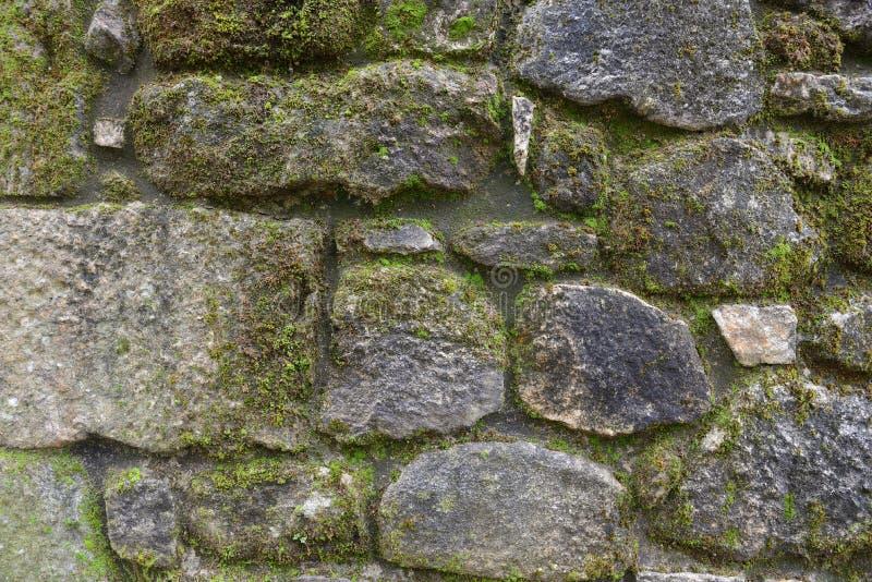 Pared del cierre de piedra para arriba, fondo, textura imágenes de archivo libres de regalías