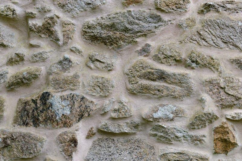 Pared del cierre de piedra para arriba, fondo, textura imagen de archivo libre de regalías
