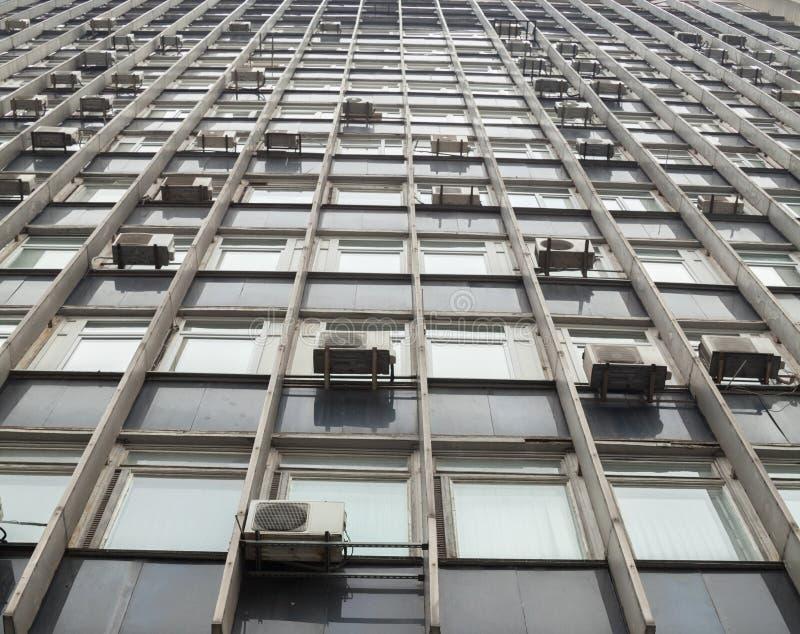 Pared del edificio alto foto de archivo libre de regalías