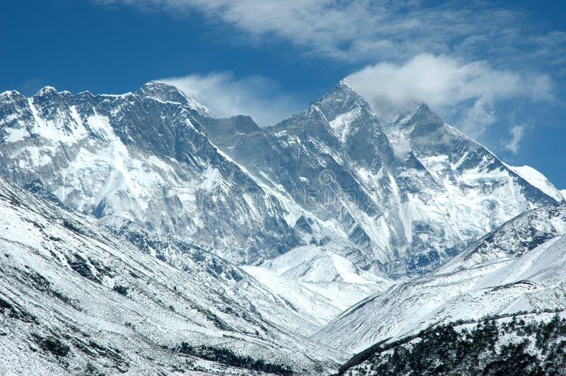 Pared del este del montaje Everest fotos de archivo