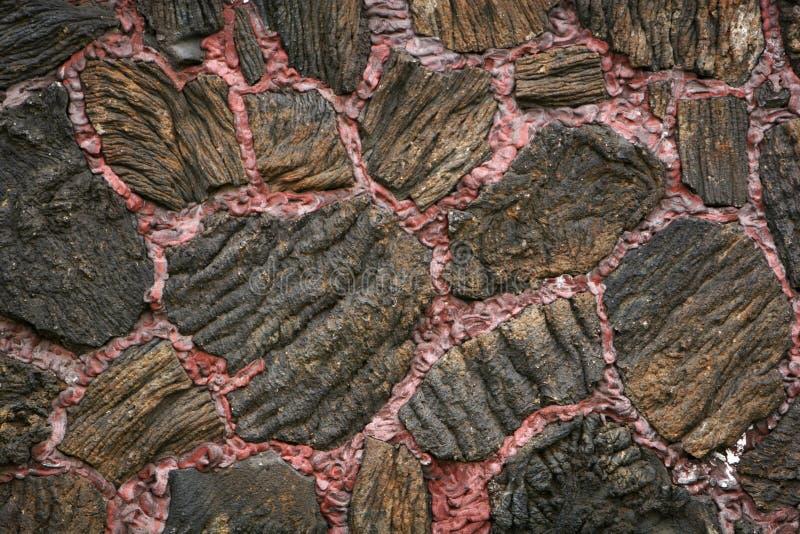 Pared del flujo de lava fotos de archivo libres de regalías