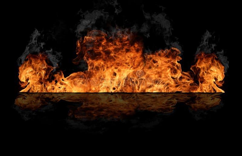 Pared del fuego imágenes de archivo libres de regalías