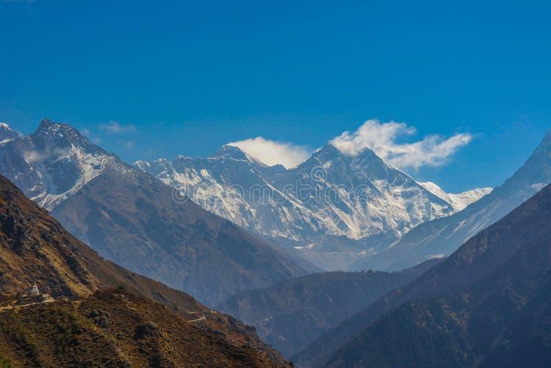Pared del monte Everest y de Lhotse fotos de archivo libres de regalías