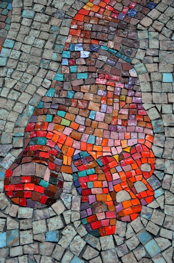 Pared del mosaico foto de archivo