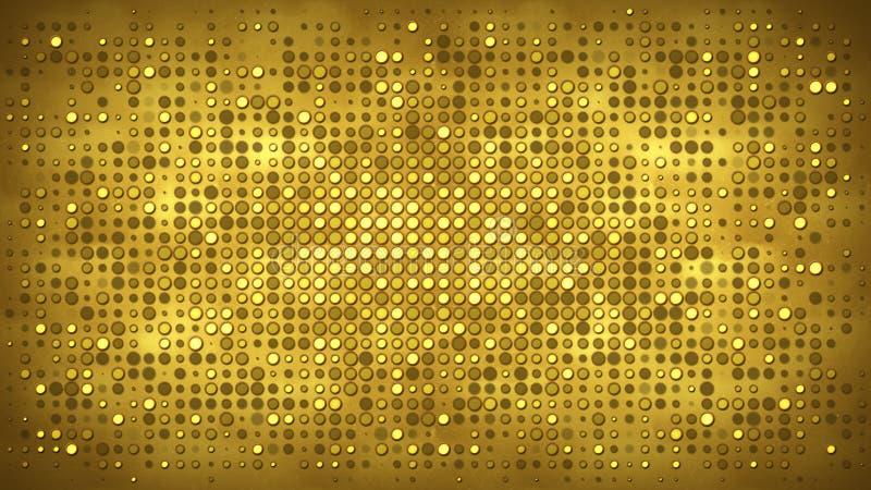 Pared del oro con el fondo del extracto de las luces que destellan libre illustration