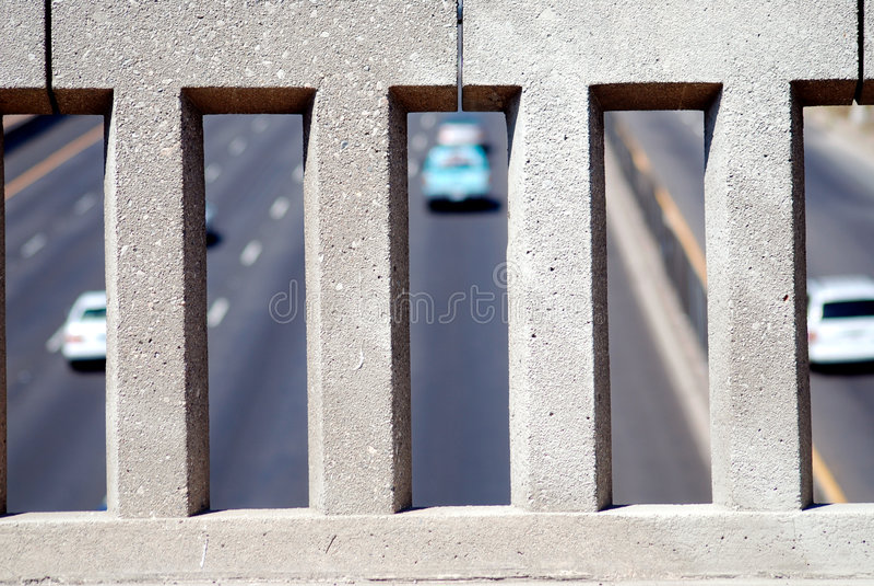Pared del paso superior de la autopista sin peaje foto de archivo libre de regalías