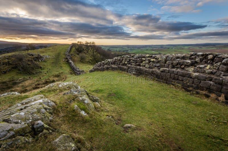 Pared del ` s de Hadrian, Northumberland foto de archivo libre de regalías