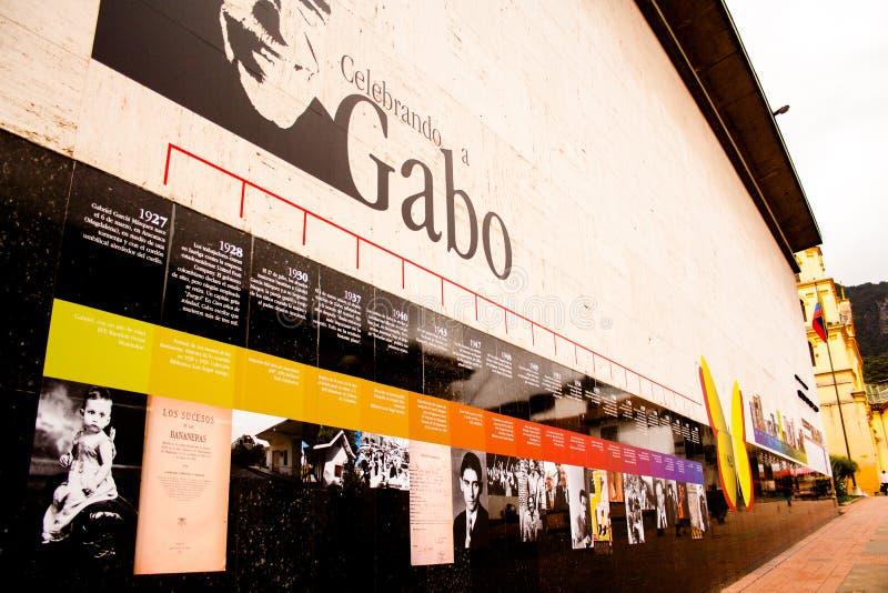 Pared del tributo a Gabriel GarcÃa Marquez GABO fotos de archivo libres de regalías