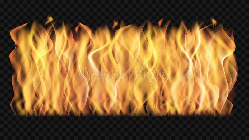 Pared del vector del fuego transparente libre illustration