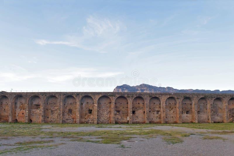 Pared en el pueblo Aragón de Ainsa foto de archivo libre de regalías