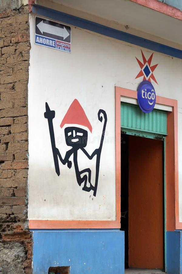 Pared en Ipiales, Colombia foto de archivo libre de regalías