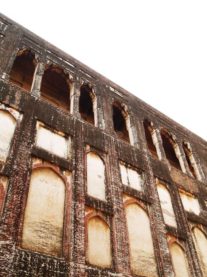 Pared en la fortaleza de Lahore imágenes de archivo libres de regalías